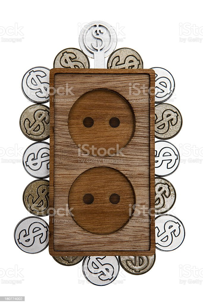 saving socket outlet royalty-free stock photo