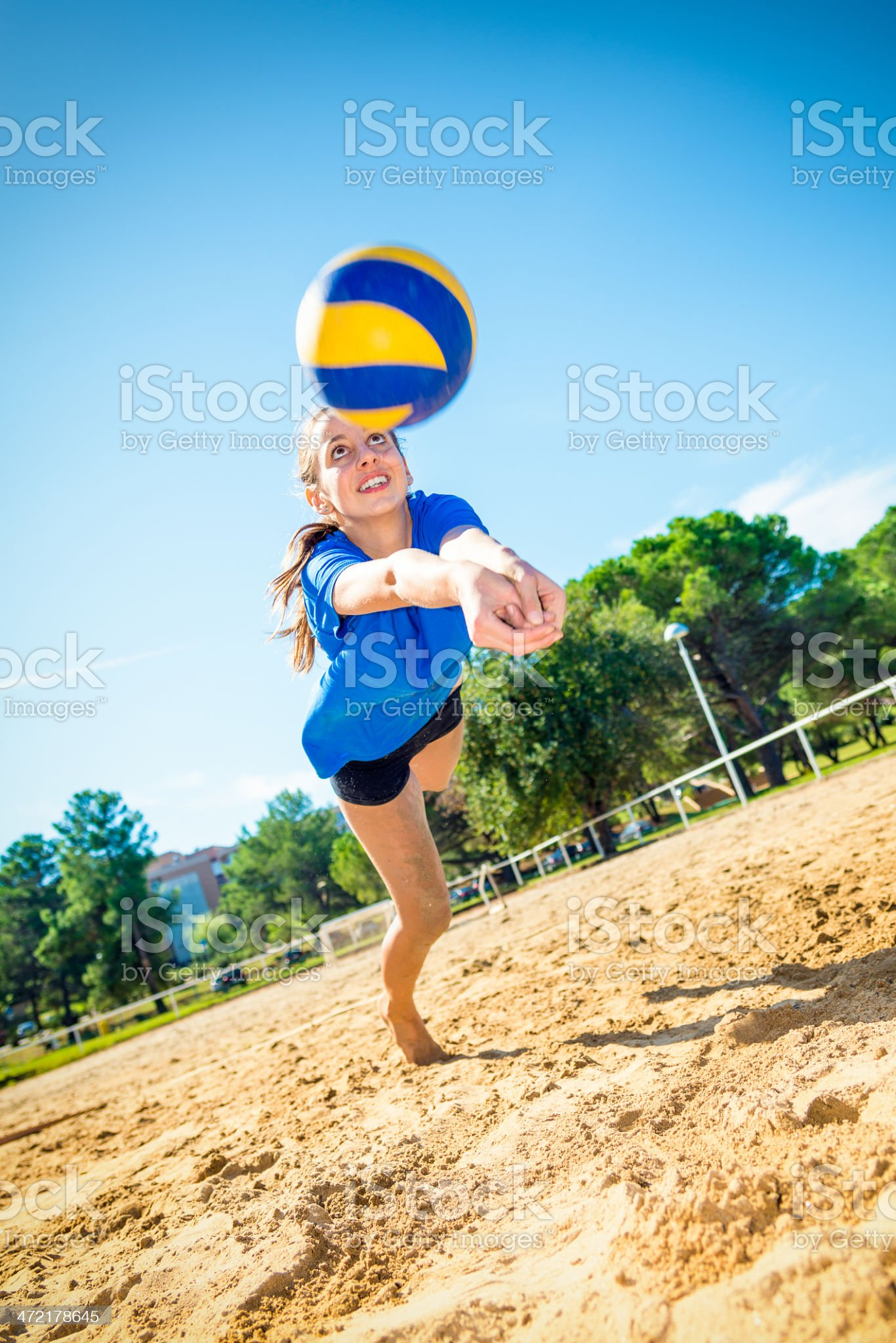 Saving the ball royalty-free stock photo