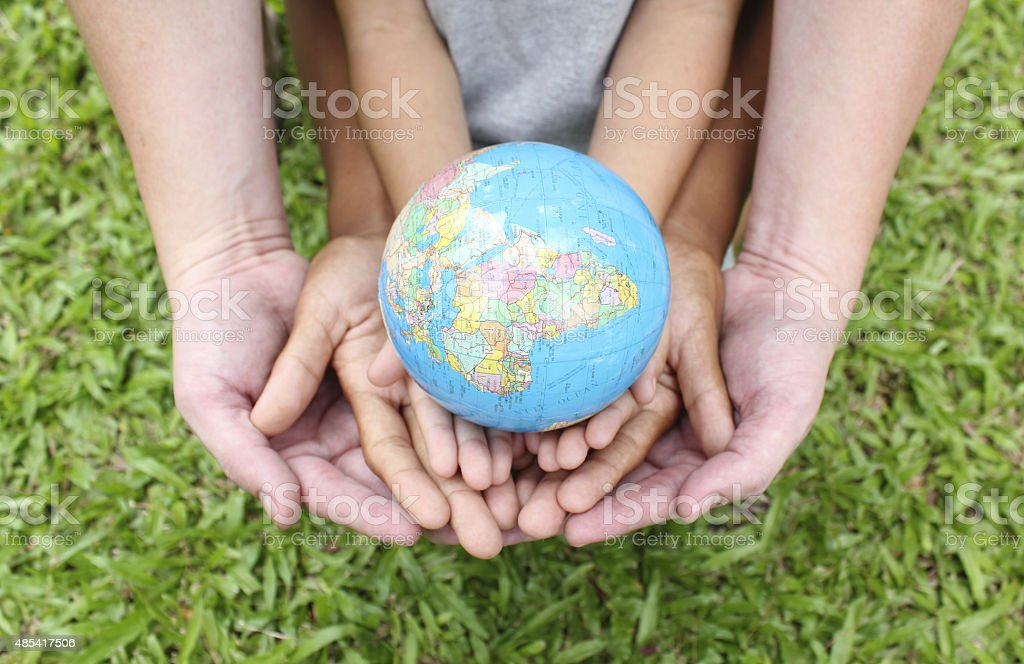 Saving the world stock photo
