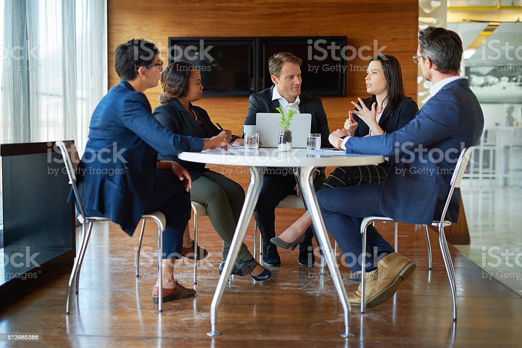 Saving their best for the boardroom stock photo