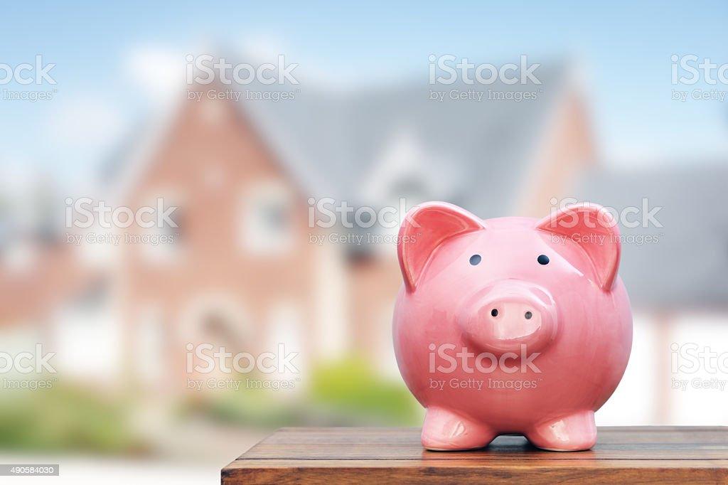 Saving to buy a house stock photo