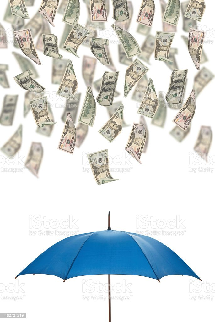 Saving up for a Rainy Day stock photo