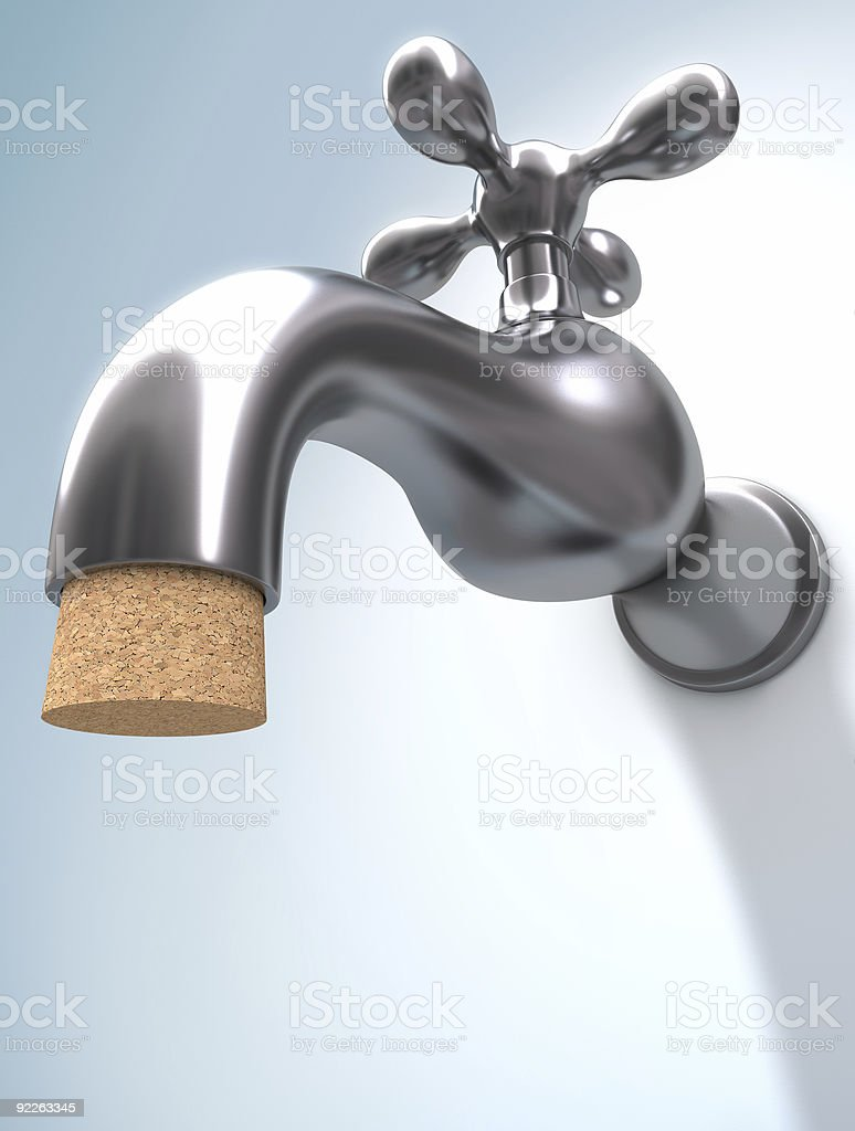 Saving Water stock photo