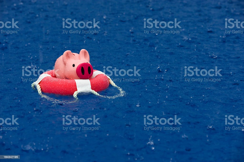 Saving your Savings during rough weather royalty-free stock photo