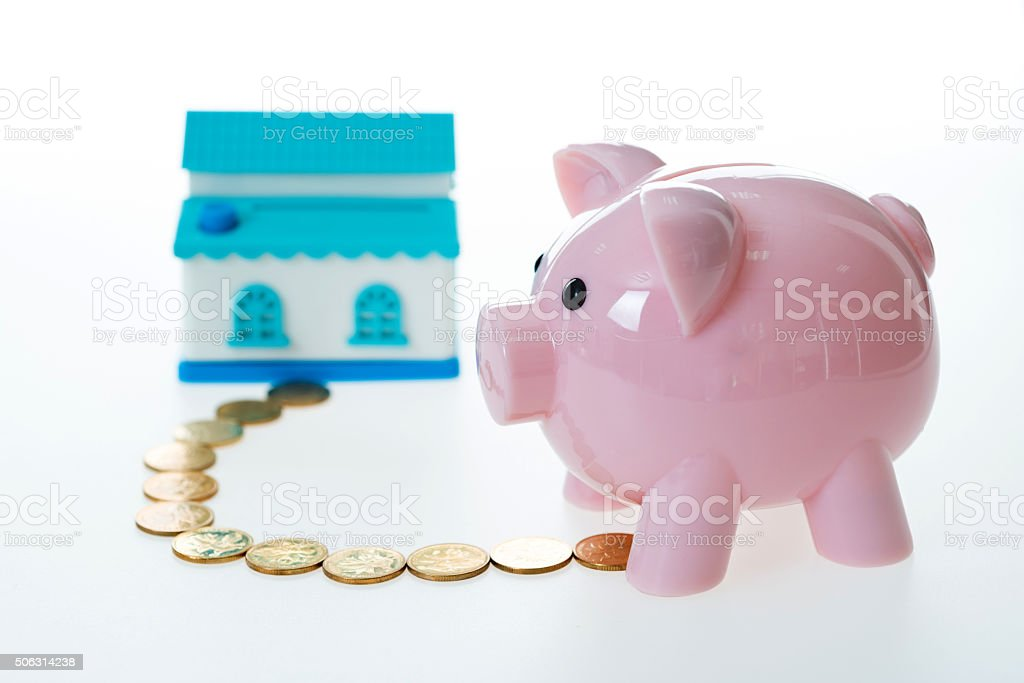 Savings and buying house concept stock photo