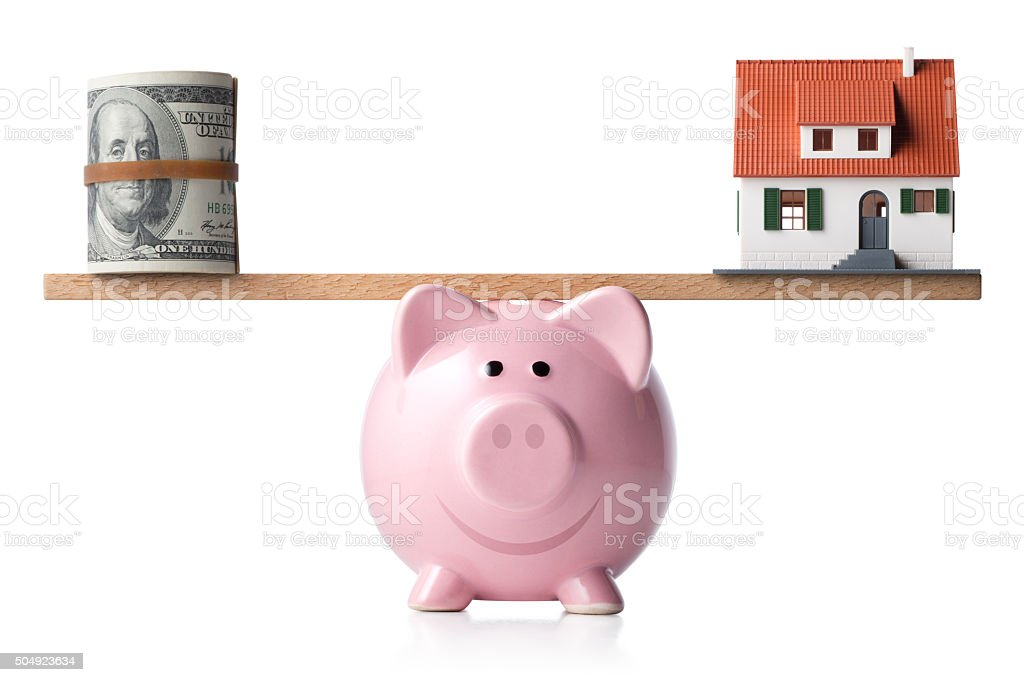 Savings and investment for house stock photo