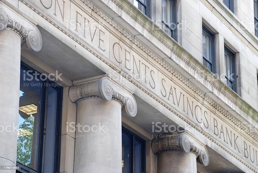Savings bank building royalty-free stock photo