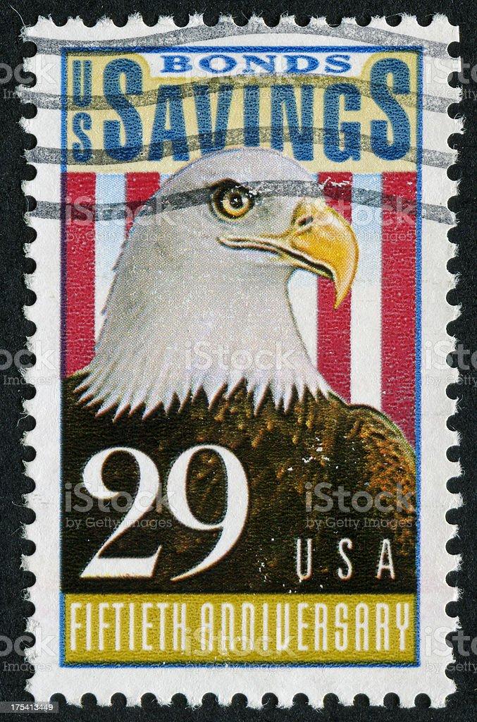 US Savings Bonds Stamp stock photo