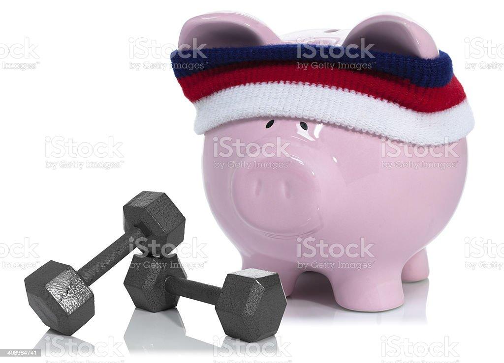 Savings building royalty-free stock photo