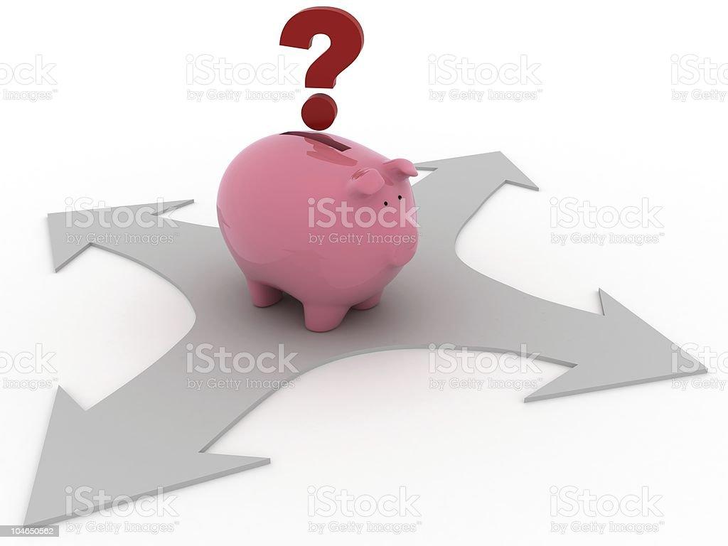 Savings Choices royalty-free stock photo