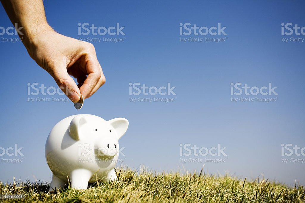 Savings, clear sky version royalty-free stock photo