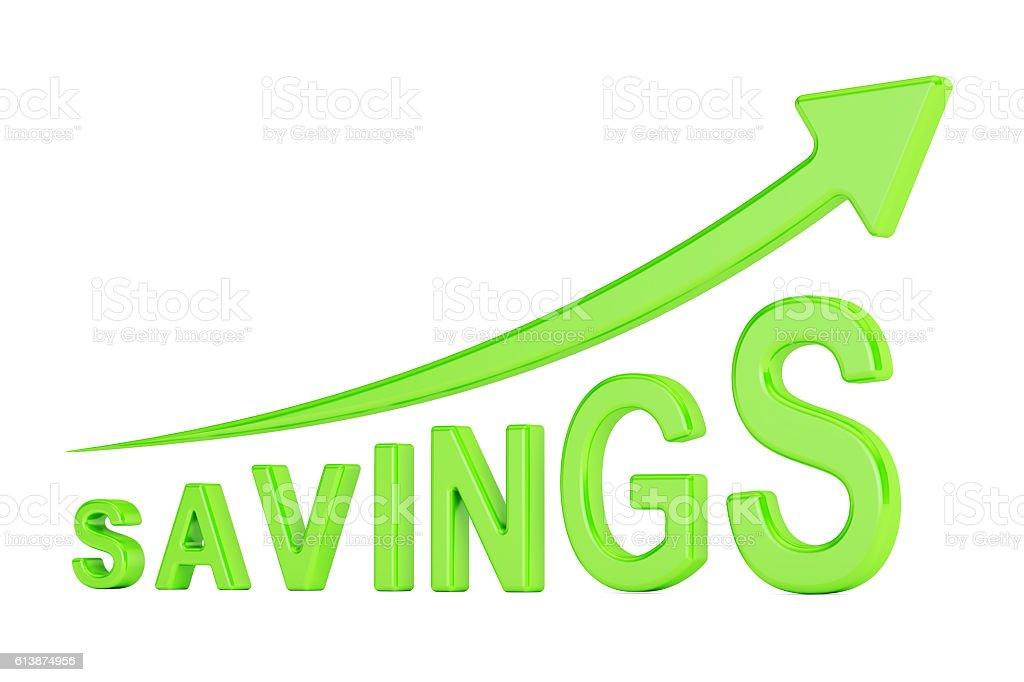 savings concept, 3D rendering stock photo