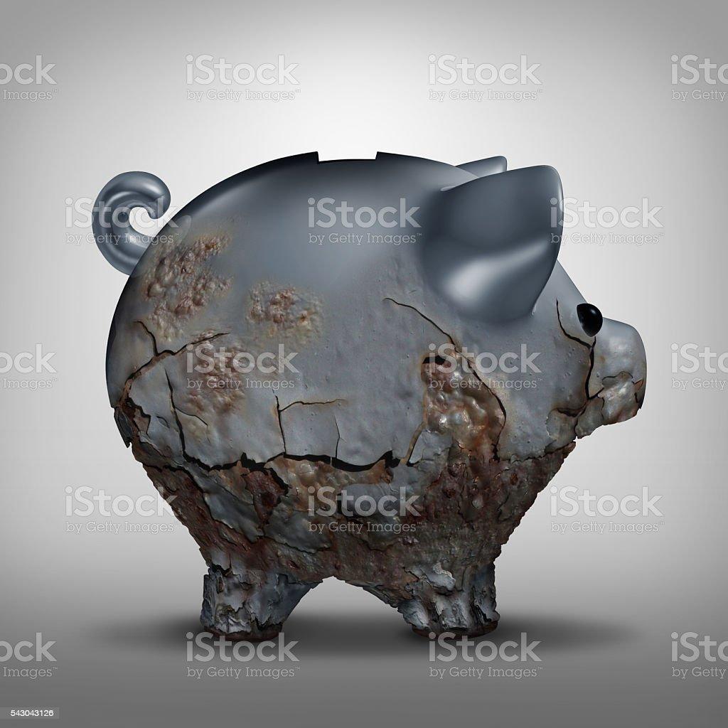 Savings Decline stock photo