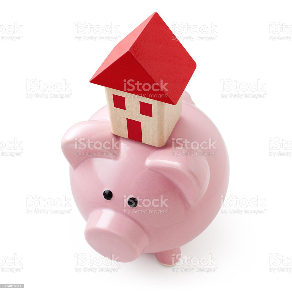 Savings for a house. royalty-free stock photo