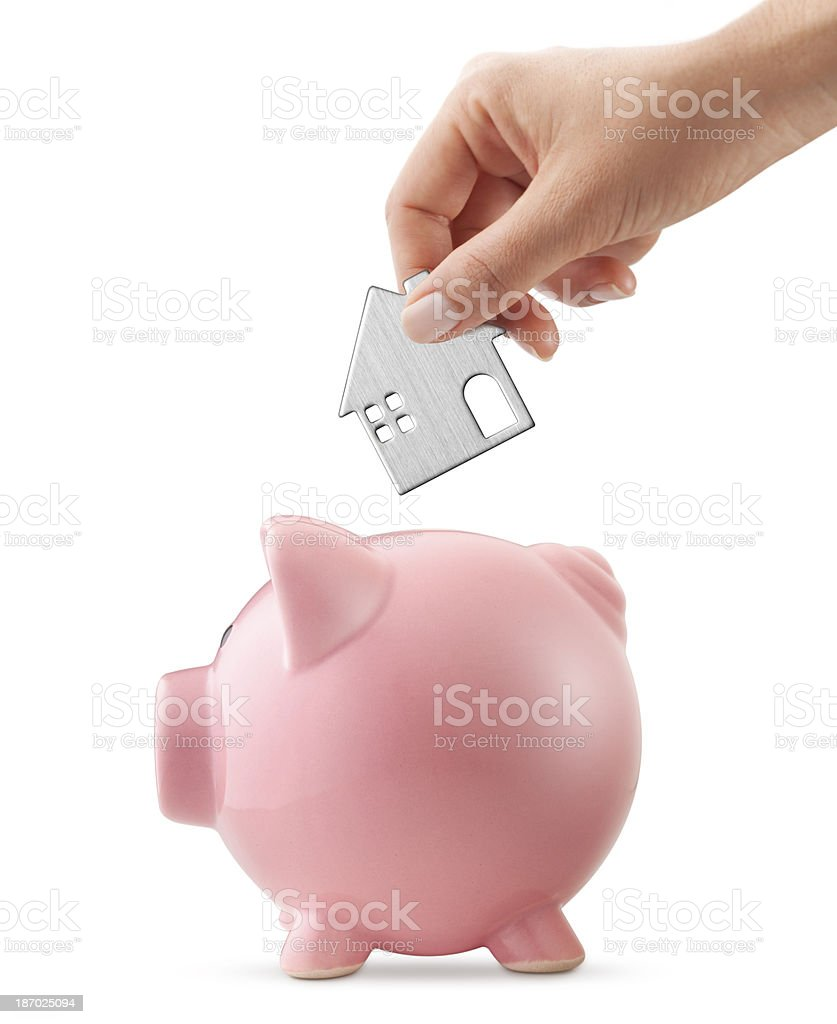 Savings for a house royalty-free stock photo