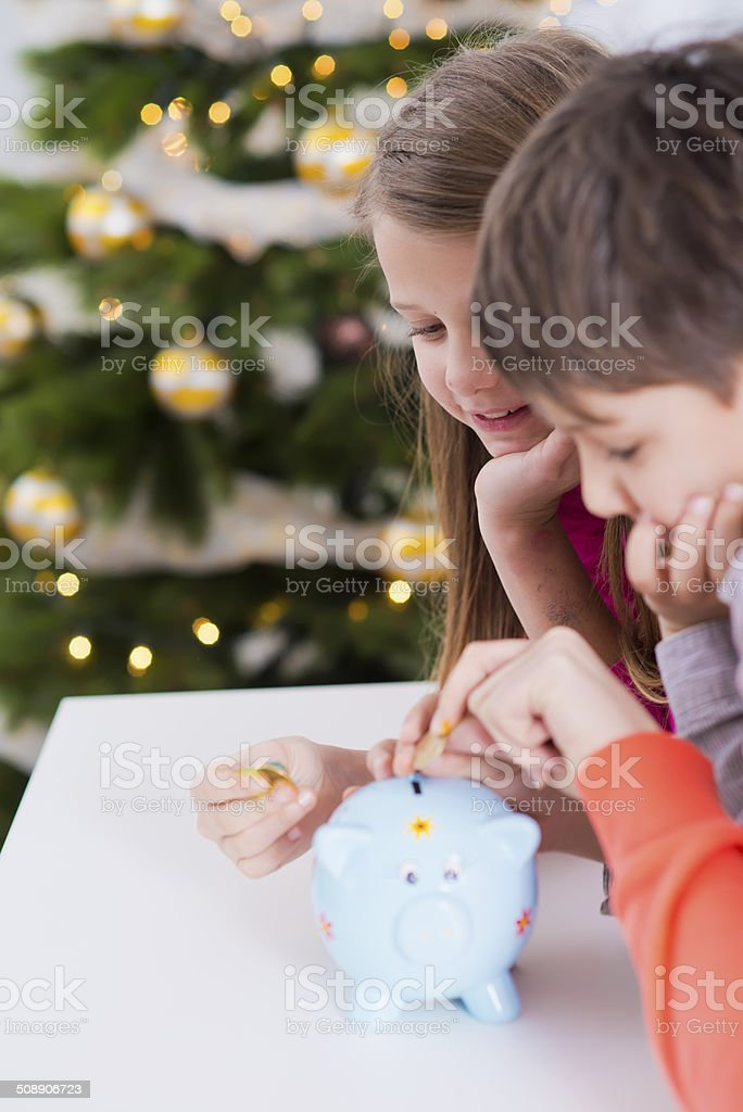 Savings for Christmas stock photo