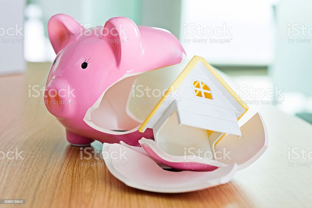 Savings for house conept stock photo
