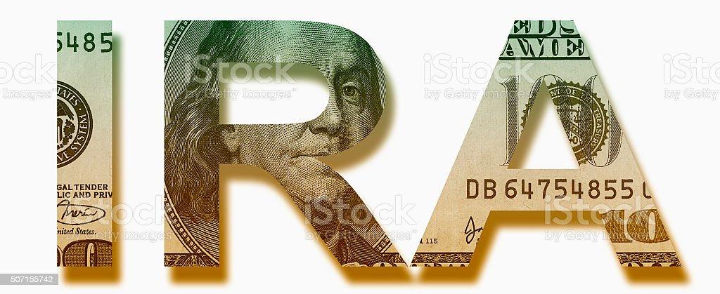 IRA Savings Fund Symbol stock photo