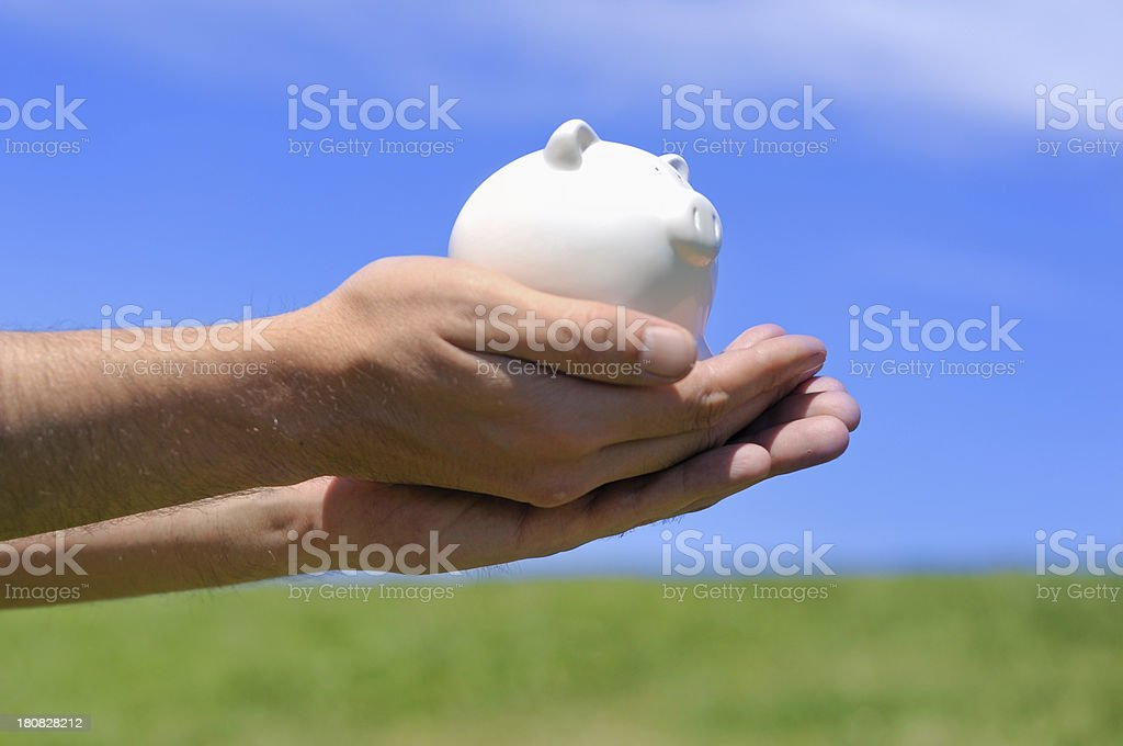 Savings in good hands royalty-free stock photo
