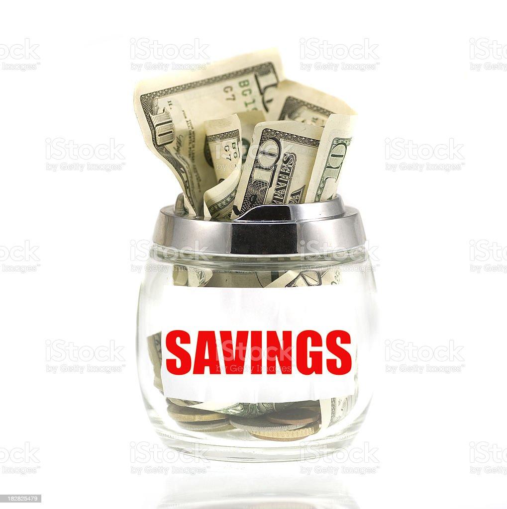 savings in jar royalty-free stock photo
