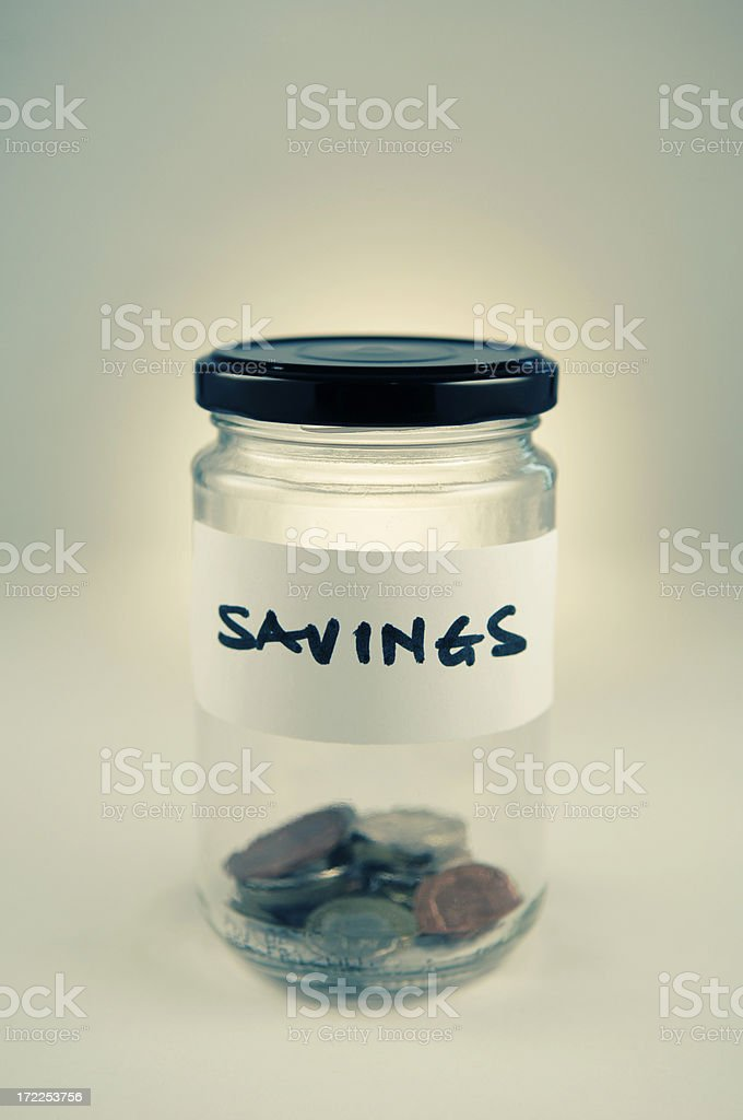 savings jar royalty-free stock photo
