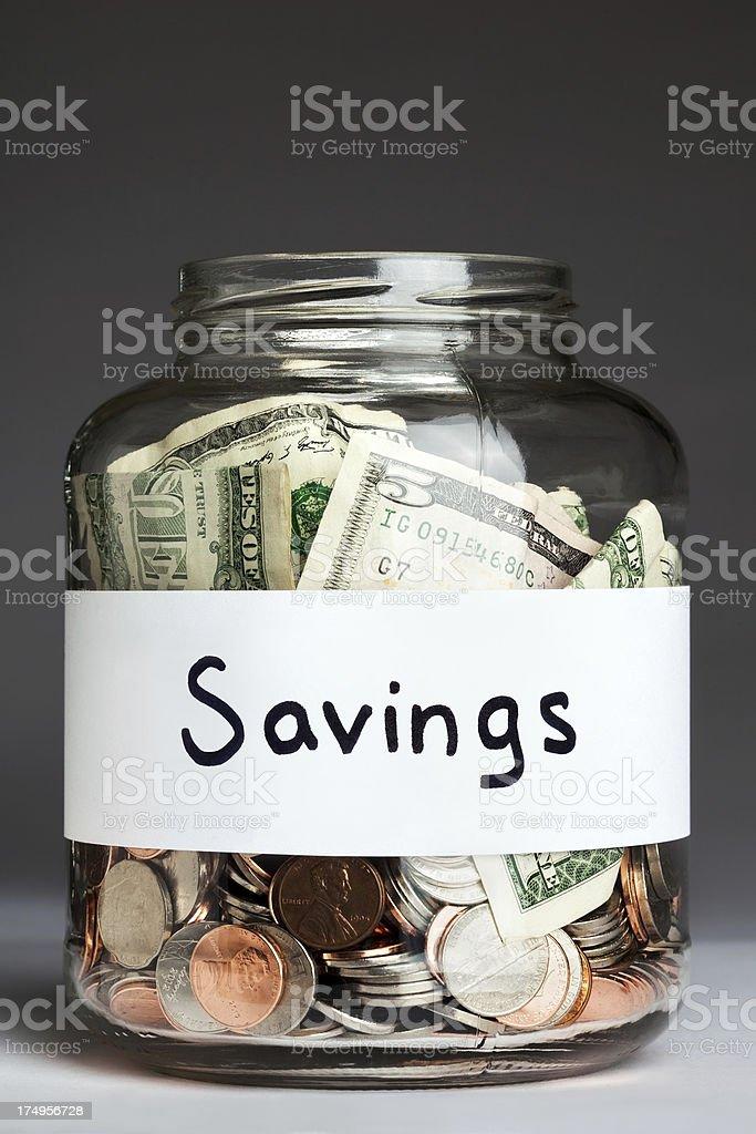 Savings Jar royalty-free stock photo