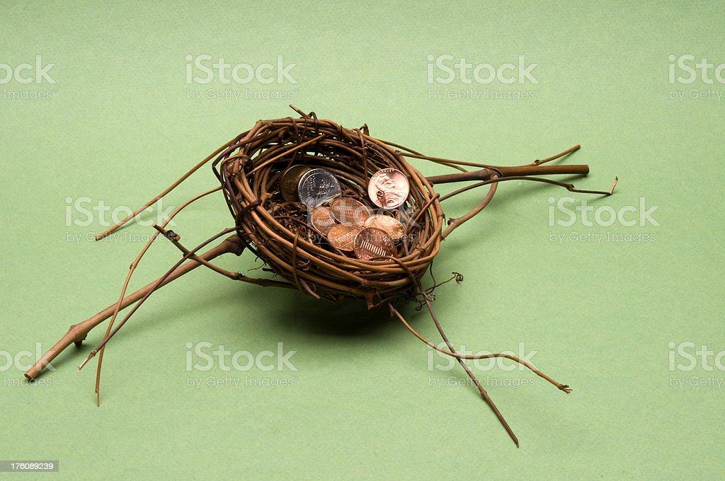 Savings Nest stock photo