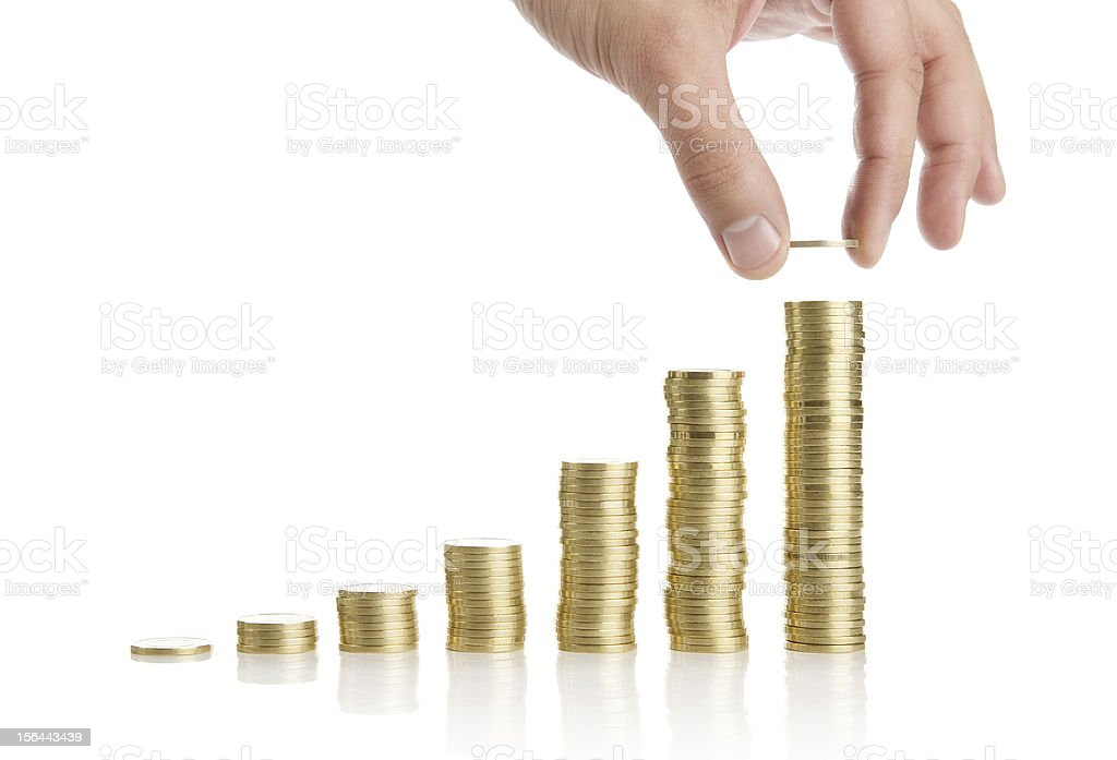 Savings or investment concept royalty-free stock photo