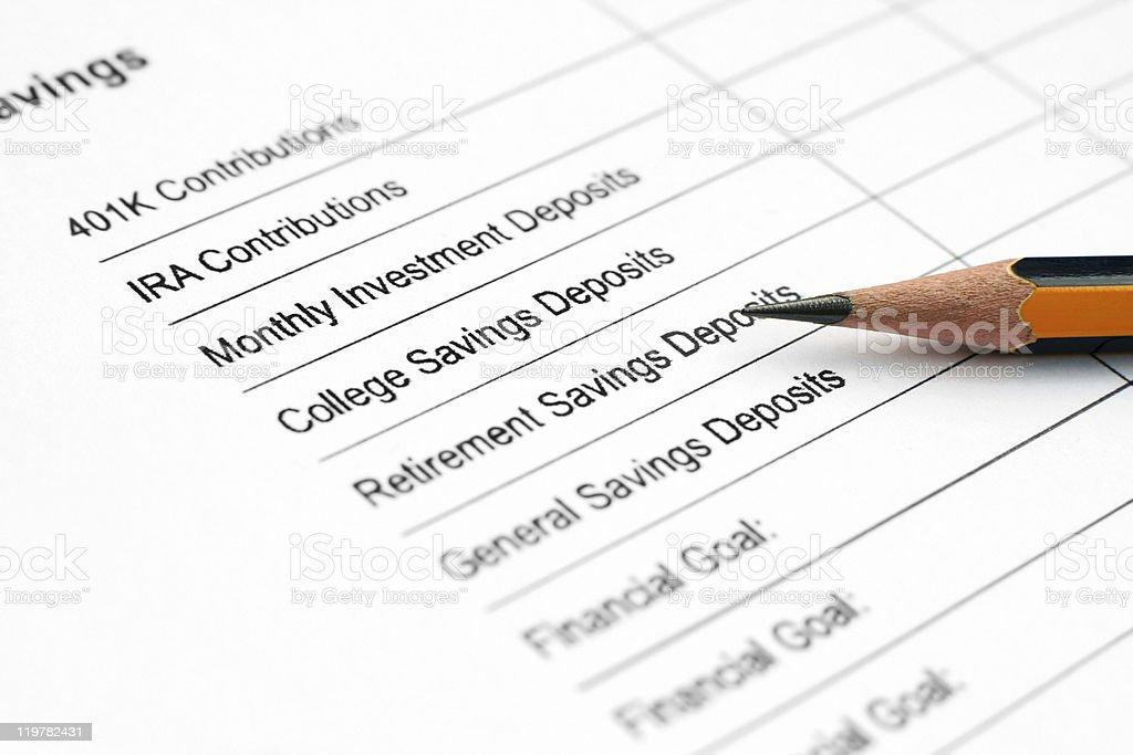 Savings plan royalty-free stock photo