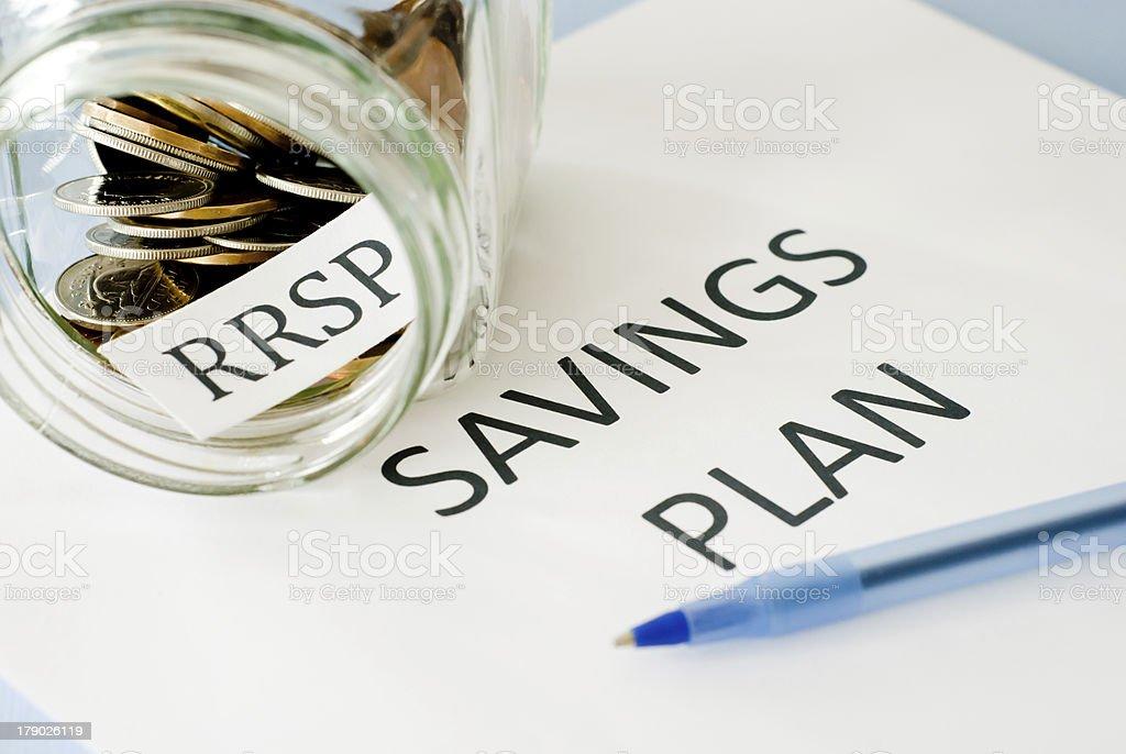 RRSP savings plan stock photo