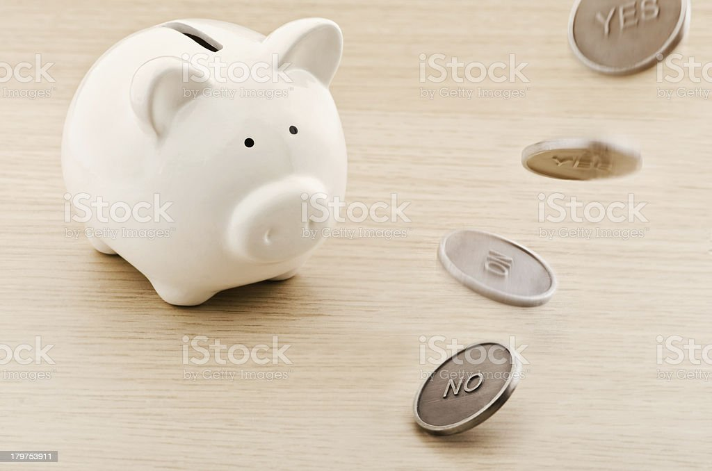 Savings prediction royalty-free stock photo