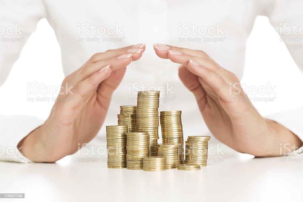 Savings protection stock photo