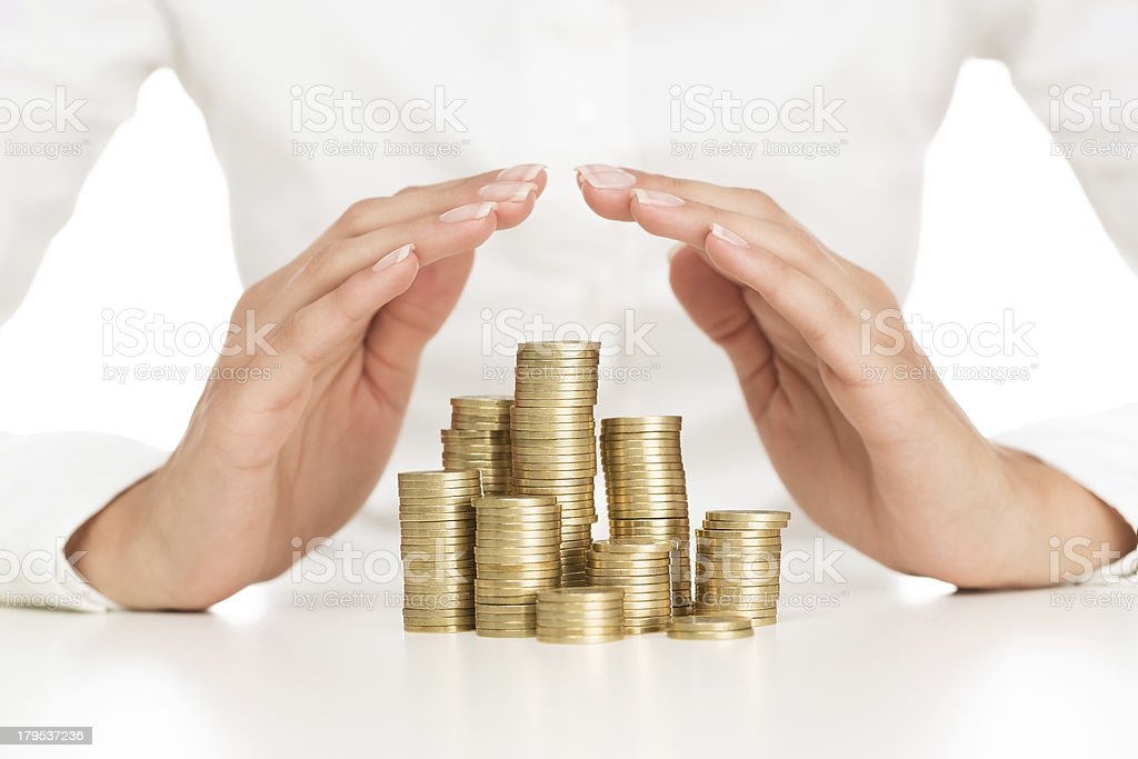 Savings protection stock photo
