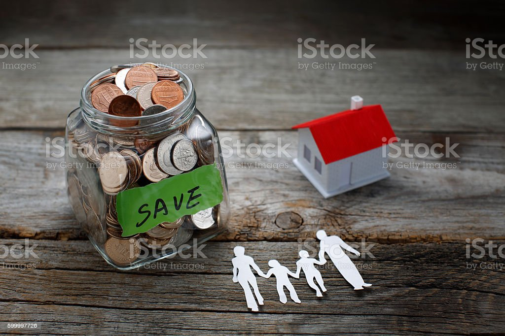 Savings purchase of real estate stock photo