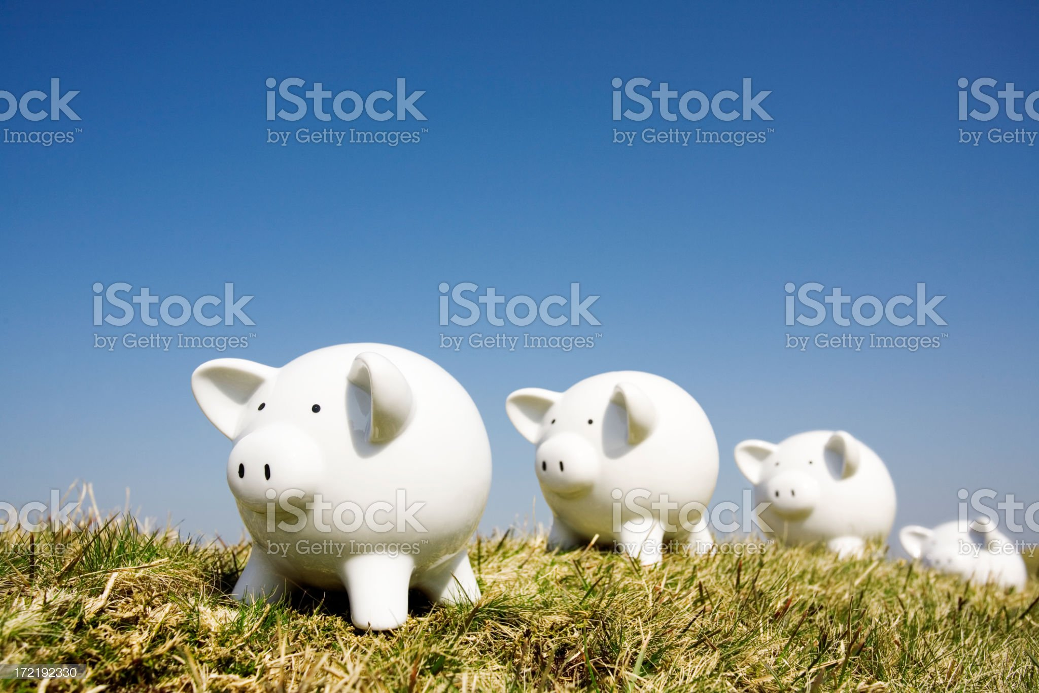 Savings queue royalty-free stock photo