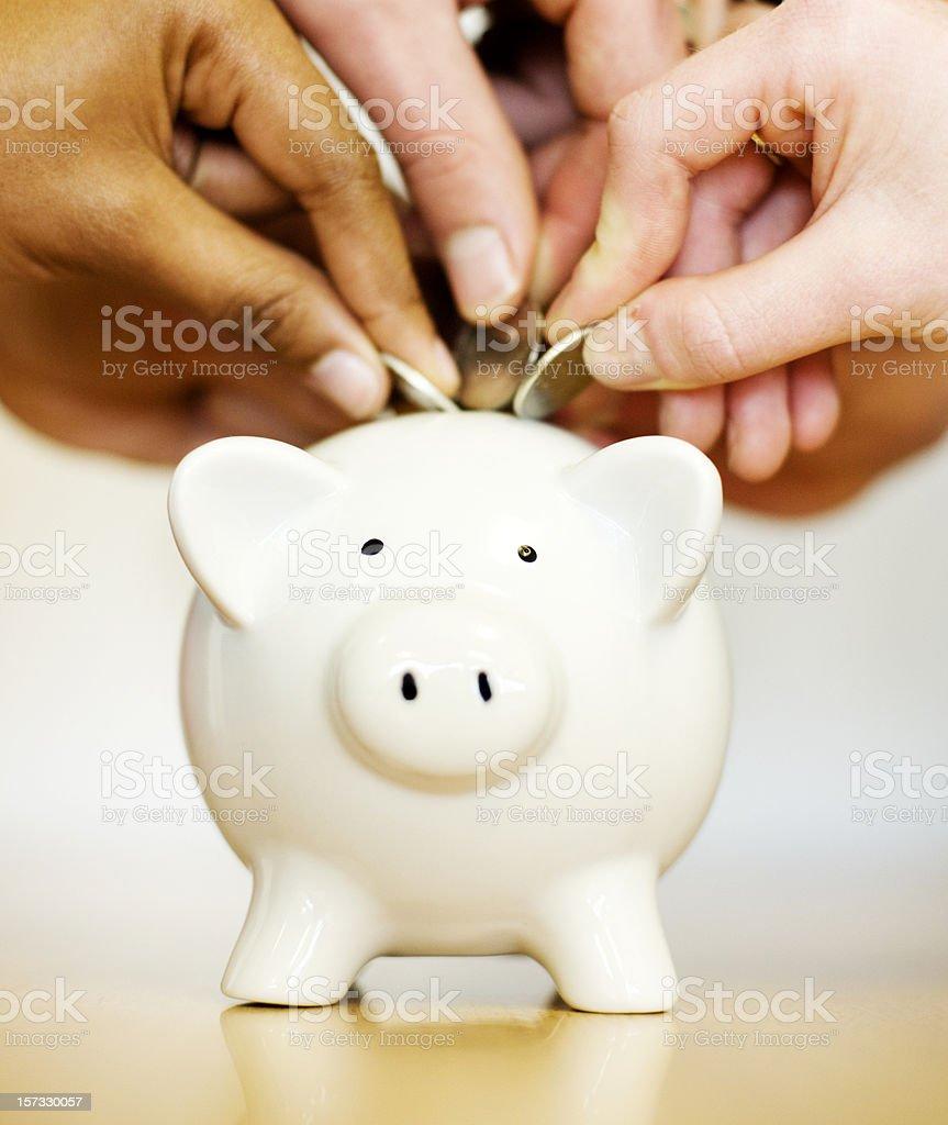 Savings rush royalty-free stock photo