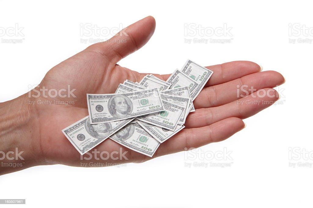 Savings shrunk stock photo