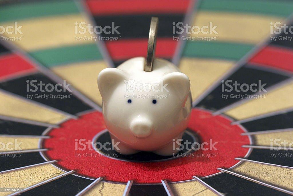 Savings target stock photo