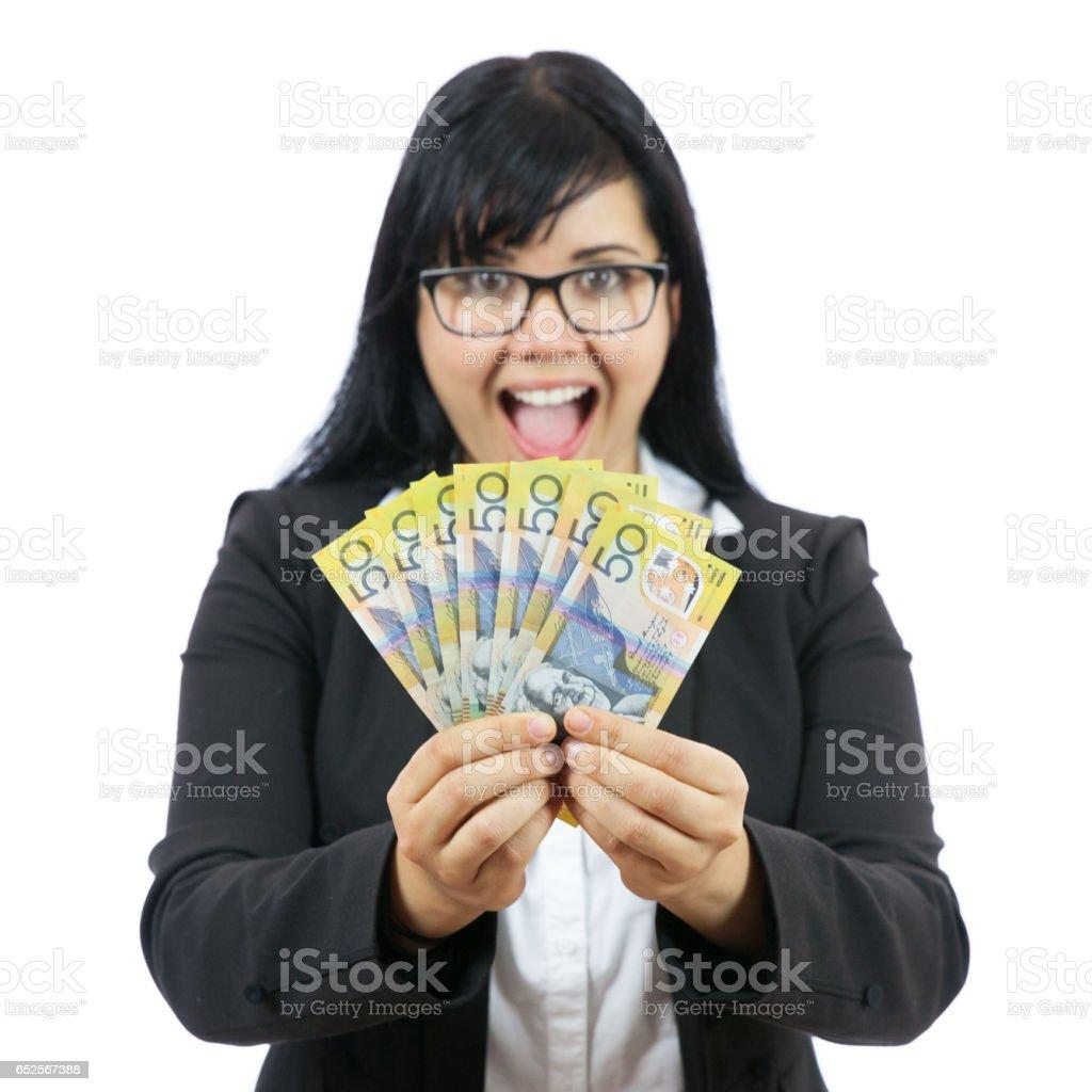 Savings Winner stock photo
