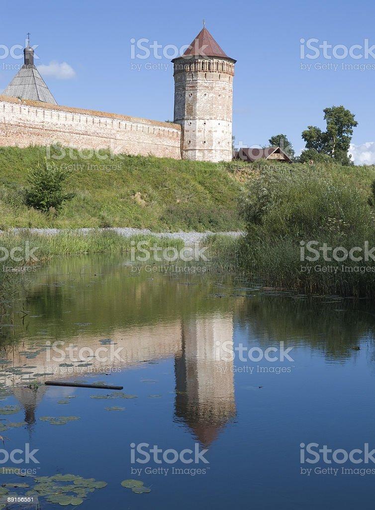 Saviour-Euthimiev monastery-fortress in Suzdal royalty-free stock photo