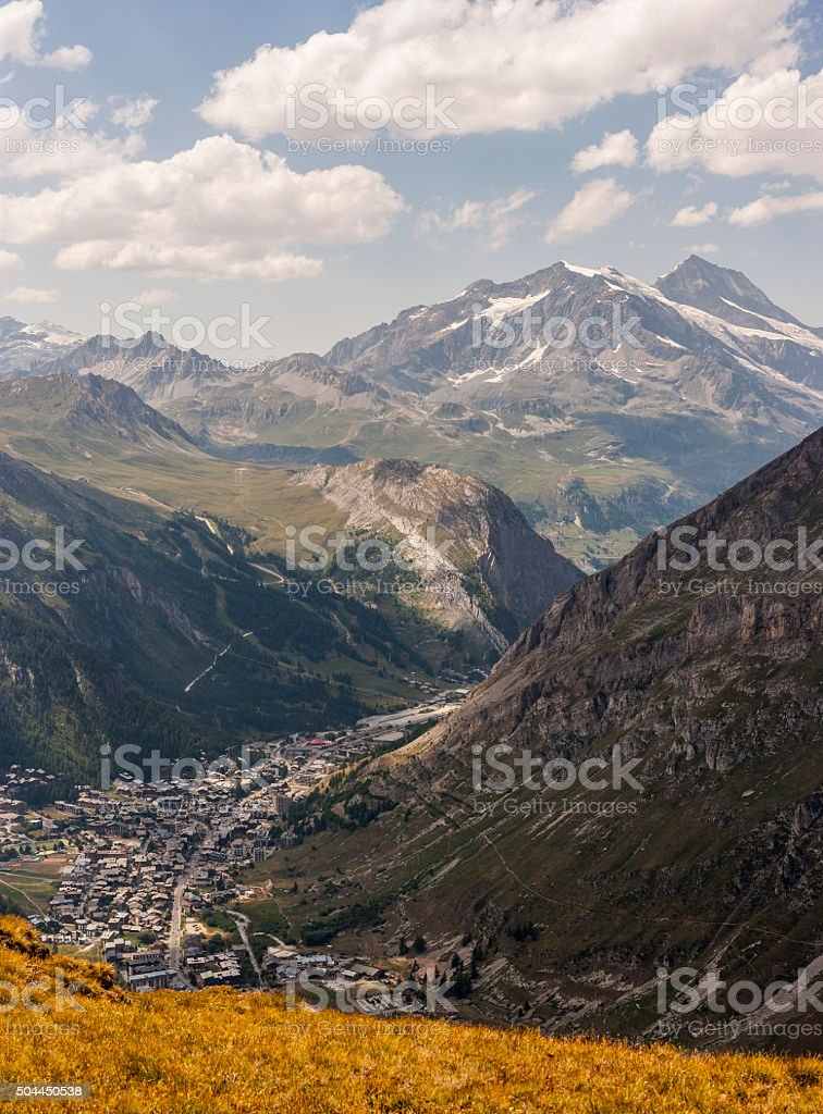 Savoie. Dôme de la Sache and Mont Pourri stock photo
