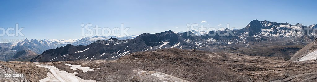 Savoie, France. From the glacier of Grande Motte stock photo
