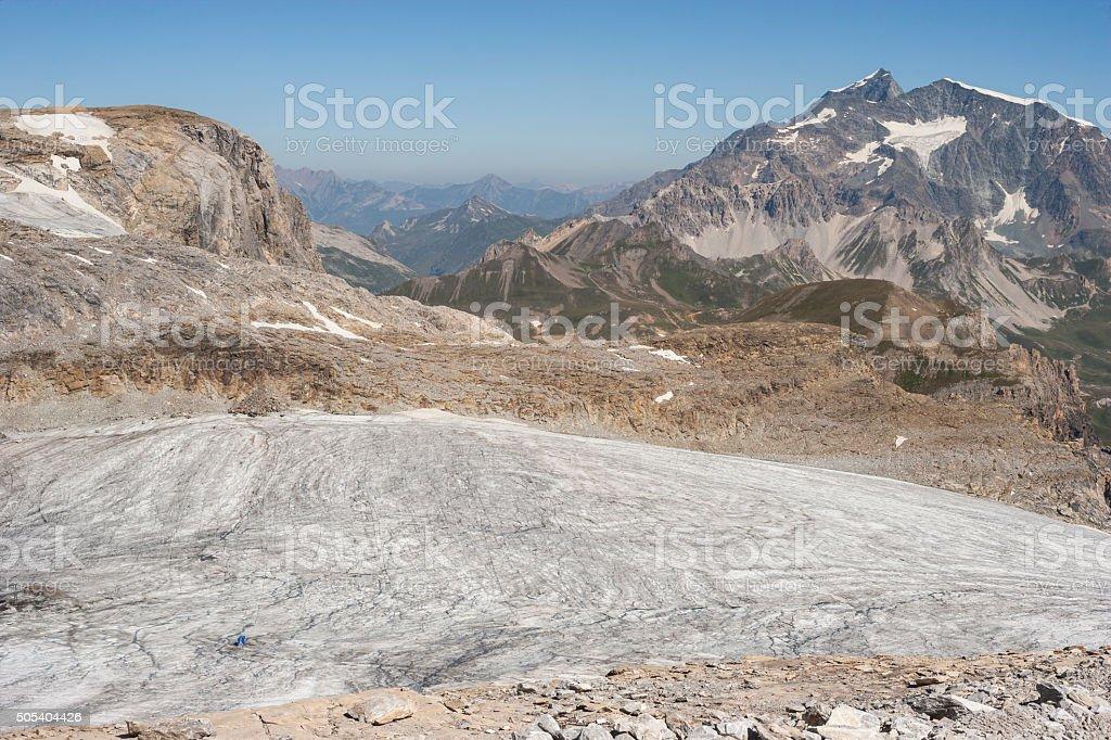 Savoie, France. Mont Pourri and Dôme de la Sache stock photo