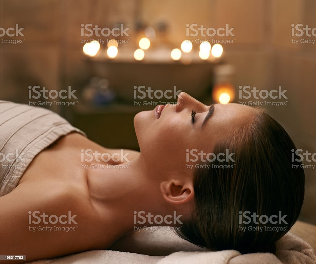 Savoring the relaxation stock photo
