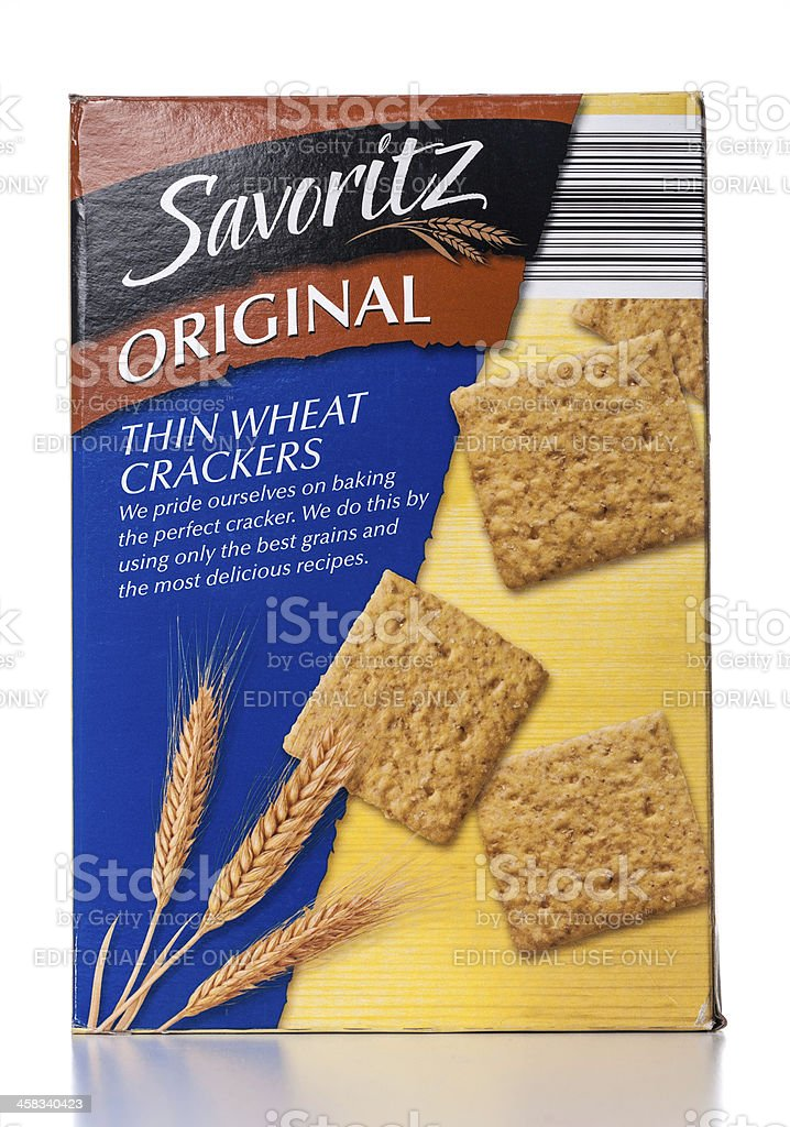 Savoritz Original Thin Wheat Crackers royalty-free stock photo