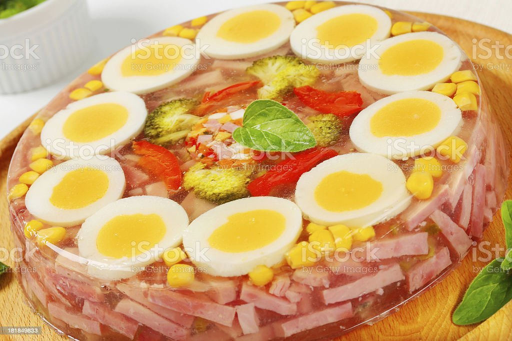 Savory aspic cake royalty-free stock photo