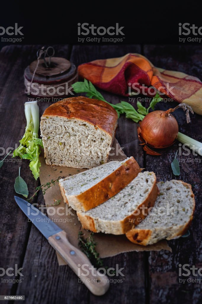 Savory Bread Loaf stock photo