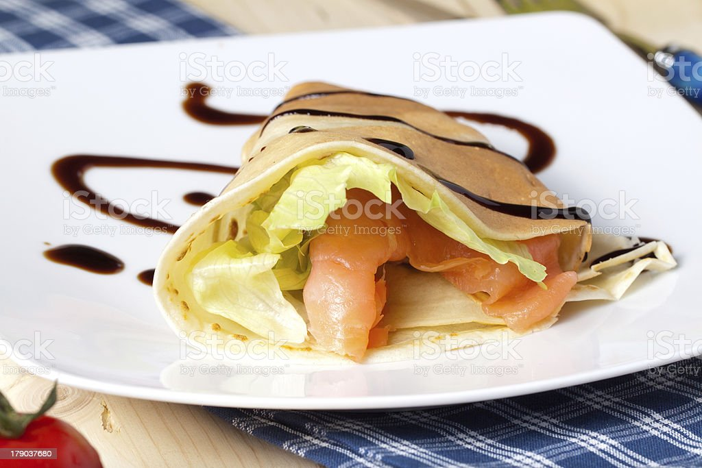 savory  crepes royalty-free stock photo