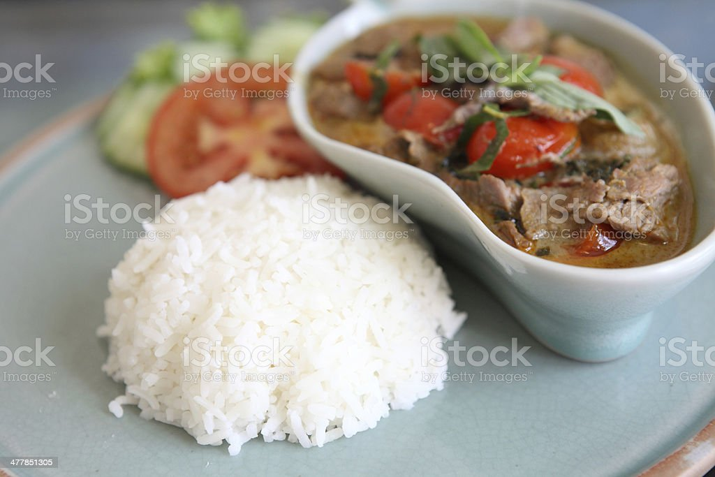savory curry with beef royalty-free stock photo