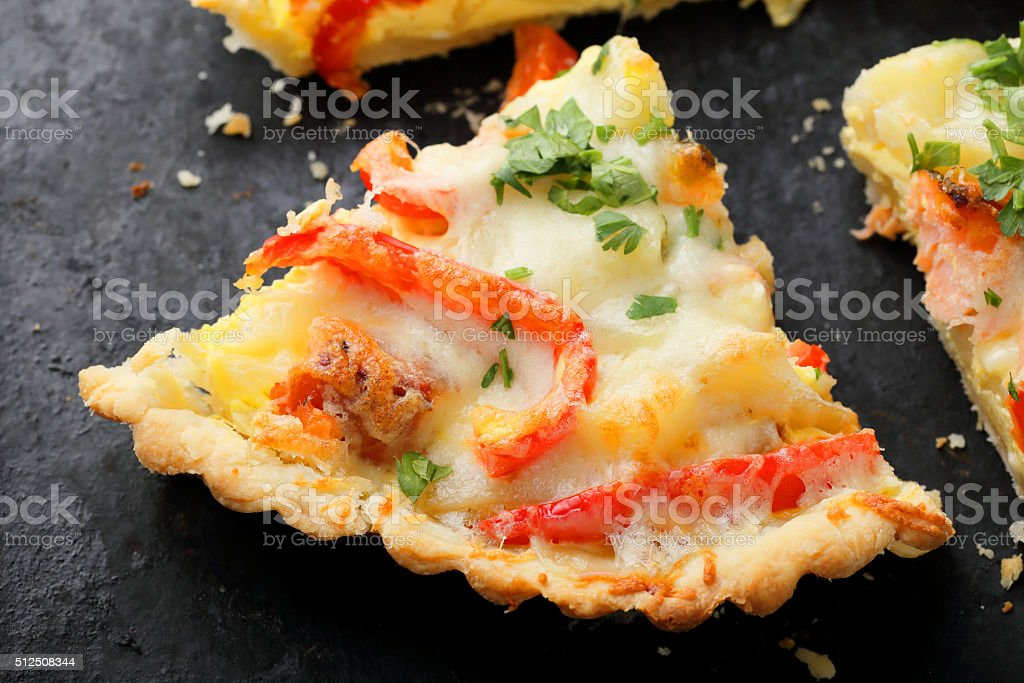 savory pie with fish stock photo